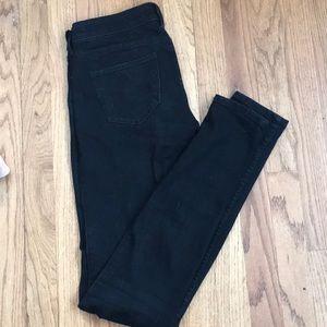 Abercrombie black, low-rise skinny jeans